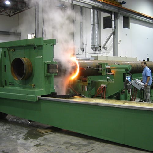 Induction bender at Advanced Bending Technologies in action.