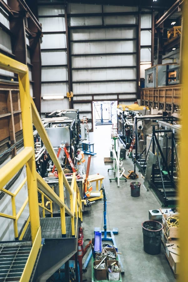 View from inside AdvanTec Manufacturing's Maple Ridge facility.