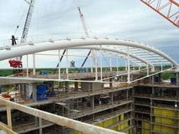 Gaylord Hotel & Convention Center Atrium supported by 42″ dia. pipe.