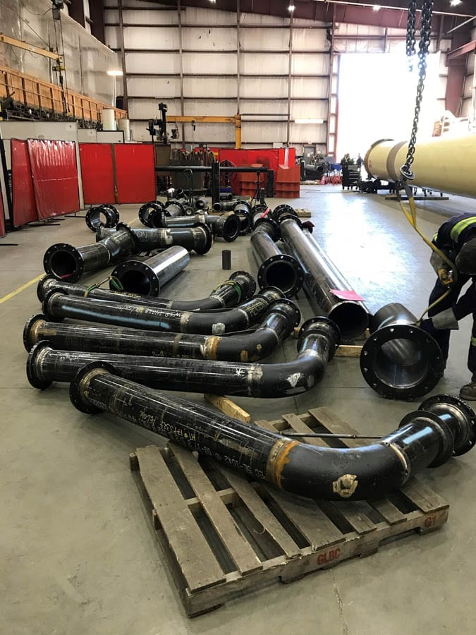 Advanced Flow Systems pipe spools.