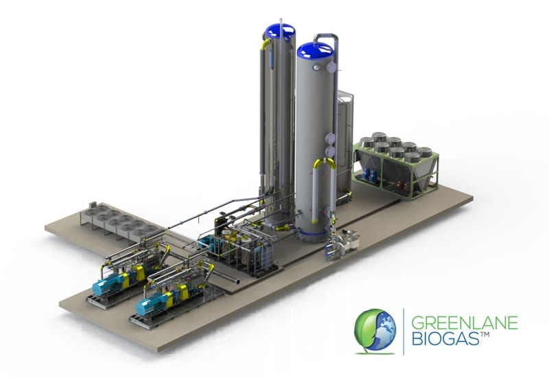 Rendering of Greenlane Biogas project by the AdvanTec Industrial group.