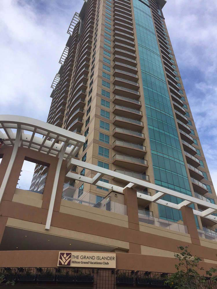 A picture of the Hilton Grand Islander in Hawaii.